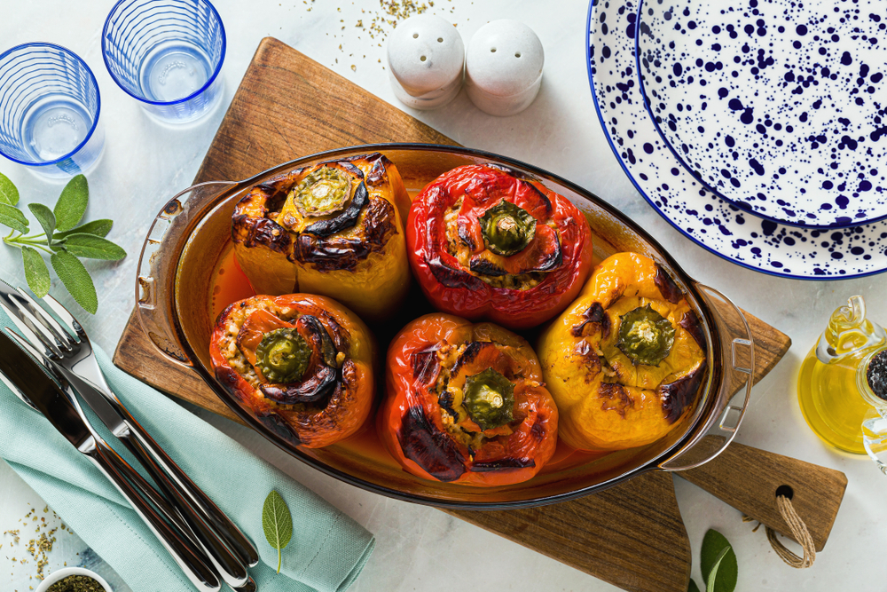 Stuffed Peppers with Lentils